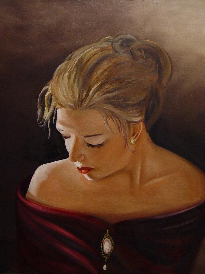 Portrait Painting - Diva by Johan Trollip
