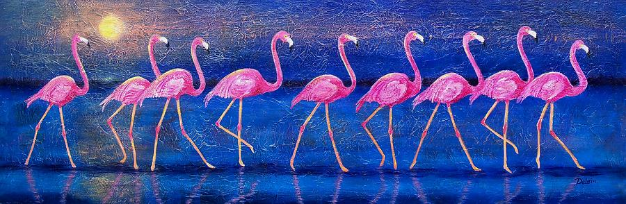 Flamingo Painting - Diva Madness by Susan DeLain