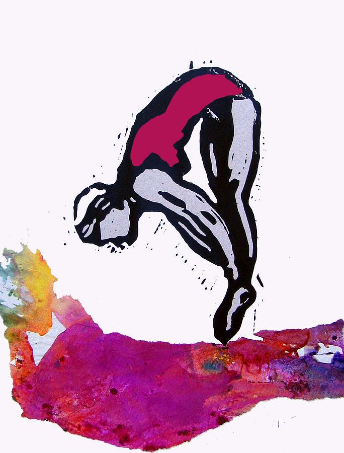 Diver Mixed Media - Dive - Crimson Tide by Adam Kissel