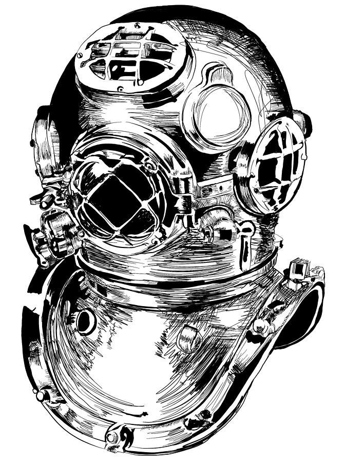 Dive Helmet Digital Art