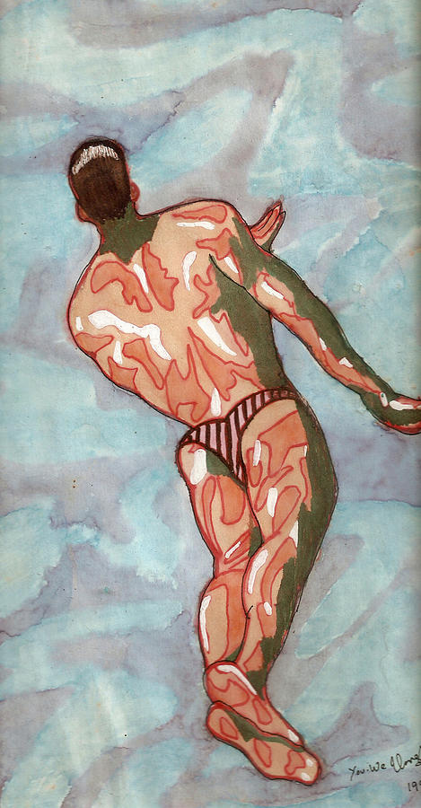 Diving Painting - Dive by Umesh U V