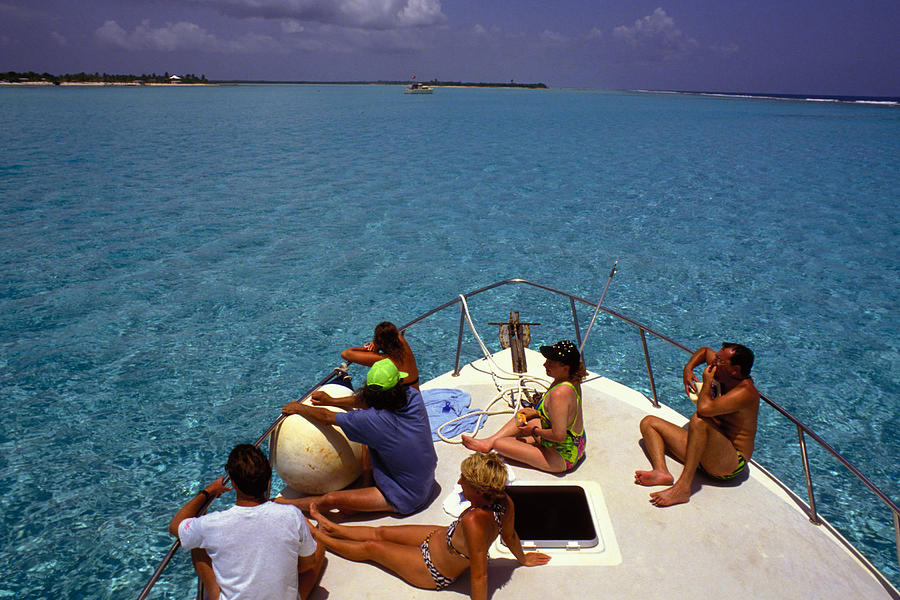 Turquoise Photograph - Diveboat At Little Cayman by Carl Purcell