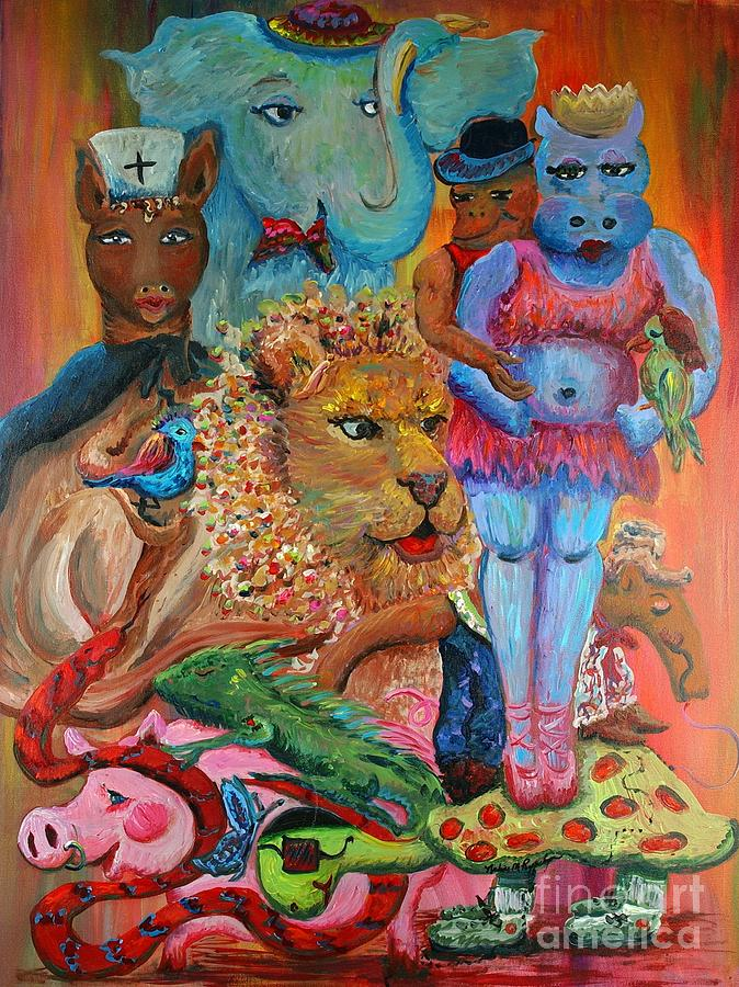 Diversity Painting - Diversity by Nadine Rippelmeyer