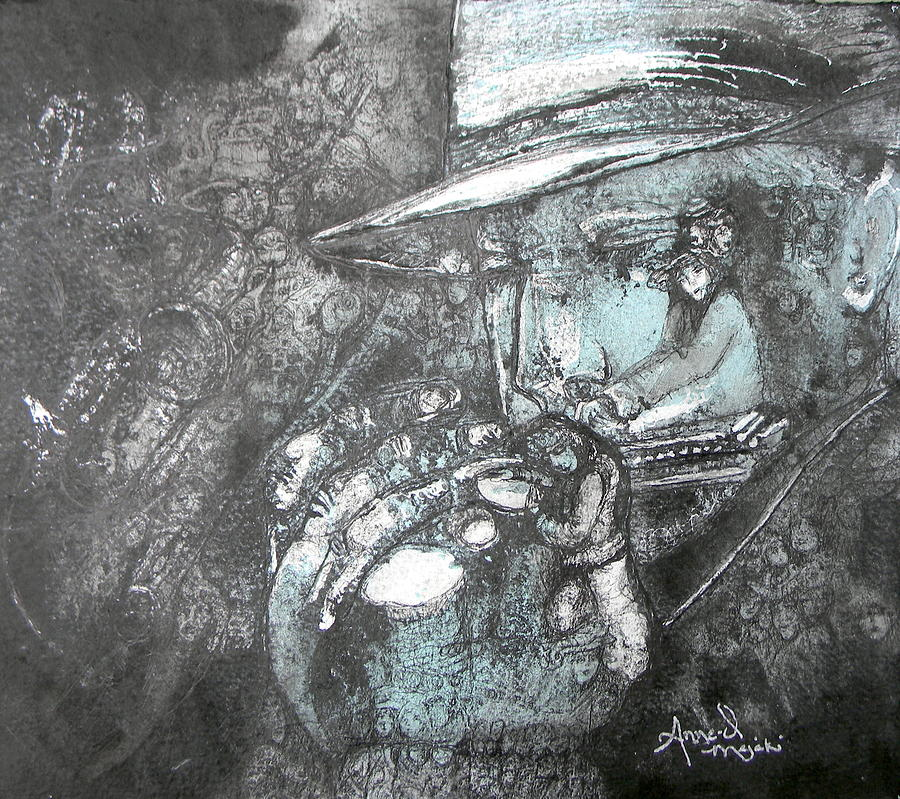 Divine Blues by Anne-D Mejaki - Art About You productions