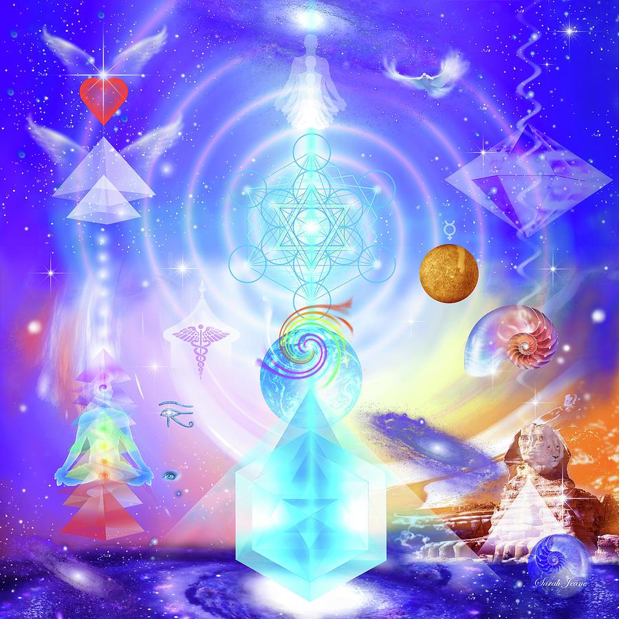 Glory Mixed Media - Divine Creative Force by Sibli Sarah Jeane
