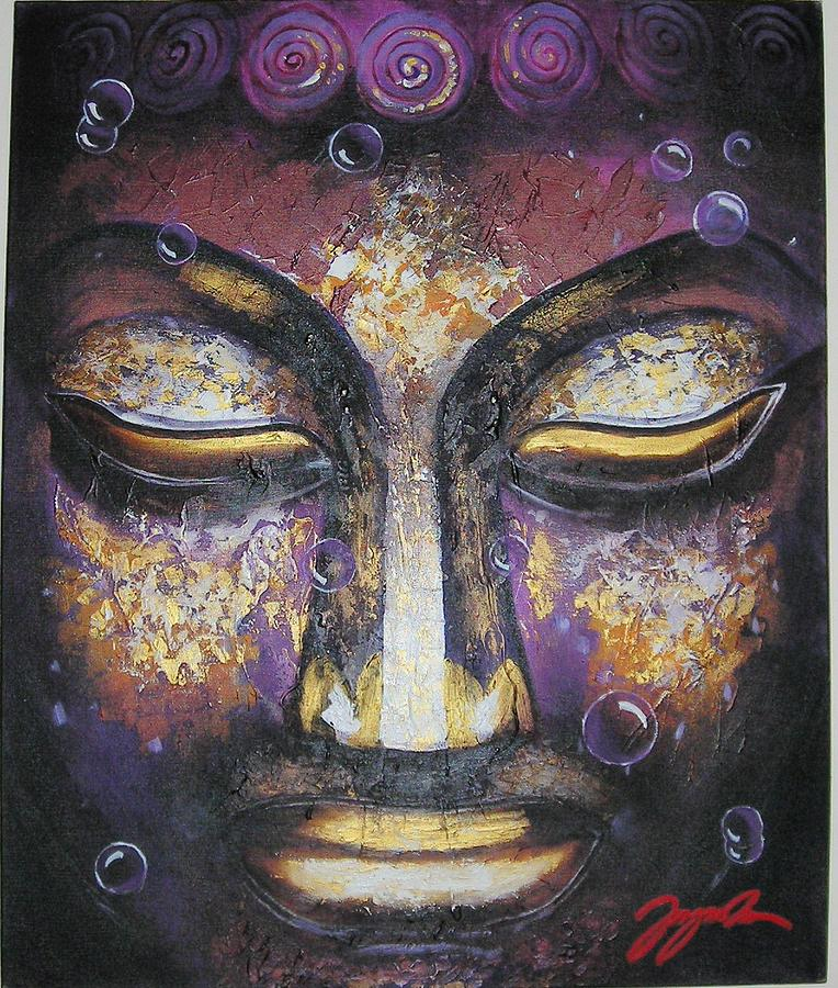 Buddha Painting - Divine Dream by Jagmohan Singh Virdi