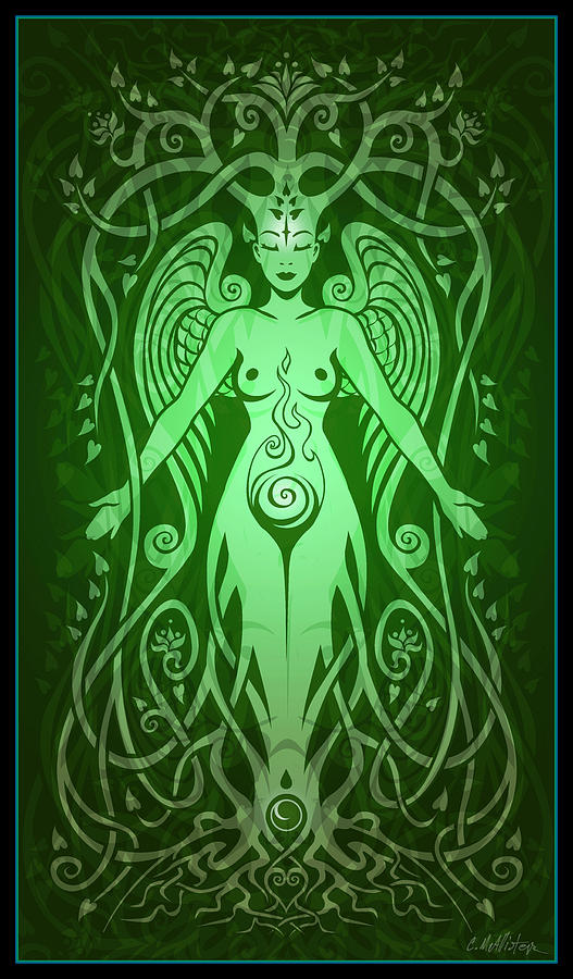 Goddess Digital Art - Divine Life by Cristina McAllister