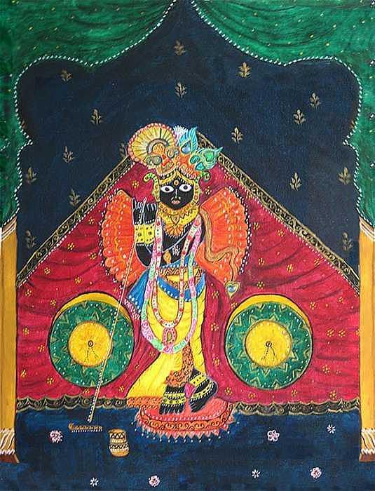 Divine Lord Shree Nath Painting by Shikha Aggarwal