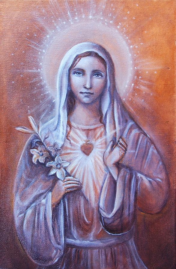 Mother Mary Painting - Divine Love by Vera Atlantia