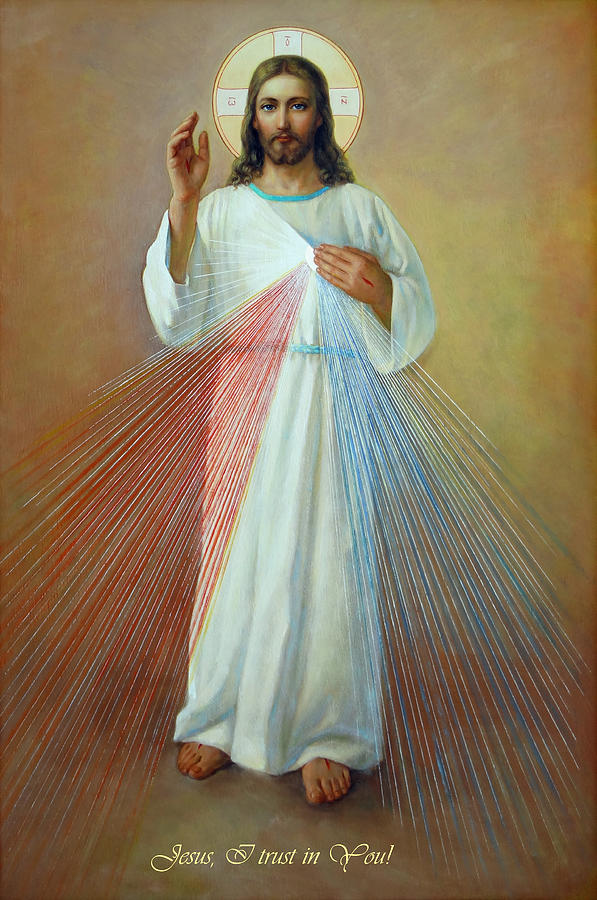 Divina Misericordia Painting - Divine Mercy - Jesus I Trust In You by Svitozar Nenyuk