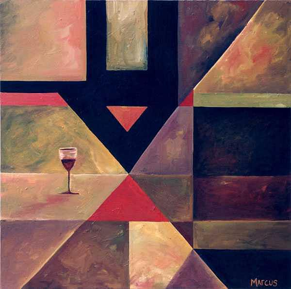 Wine Abstract Painting - Divine Wine by Leslie Marcus