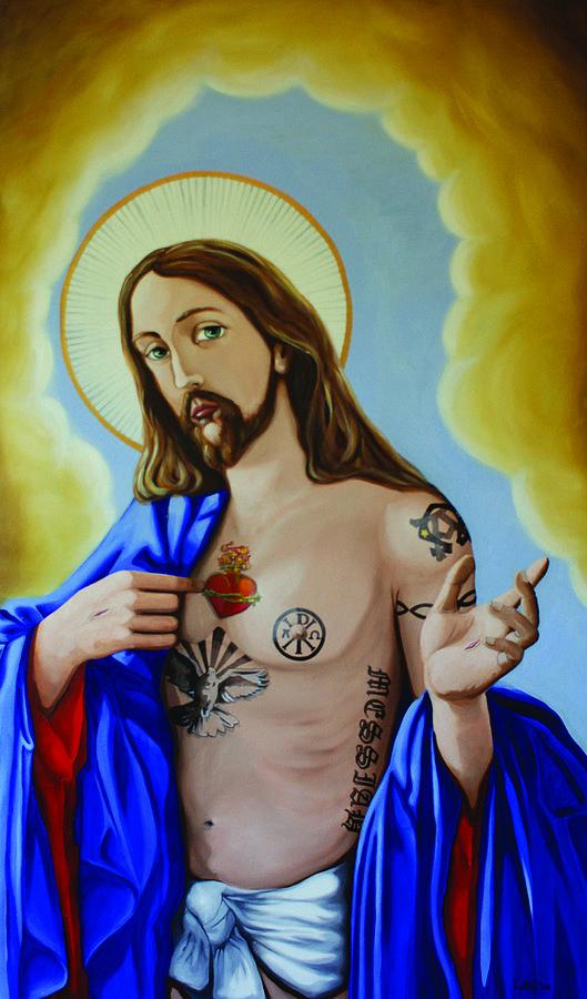 Jesus Painting - Divineink by Matthew Lake