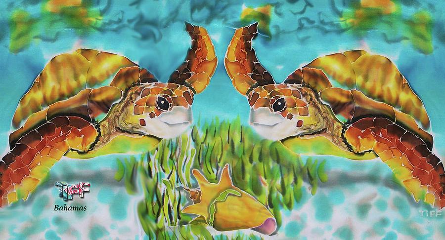 Bahamas Painting - Diving Conch Mug by Tiff