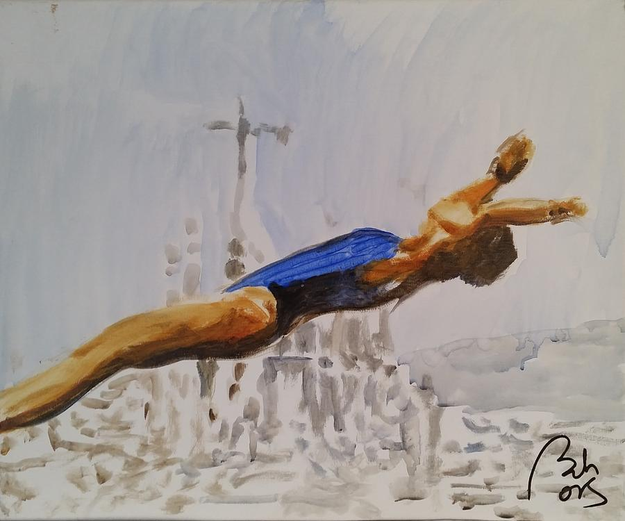 Platform Painting - Diving II by Bachmors Artist