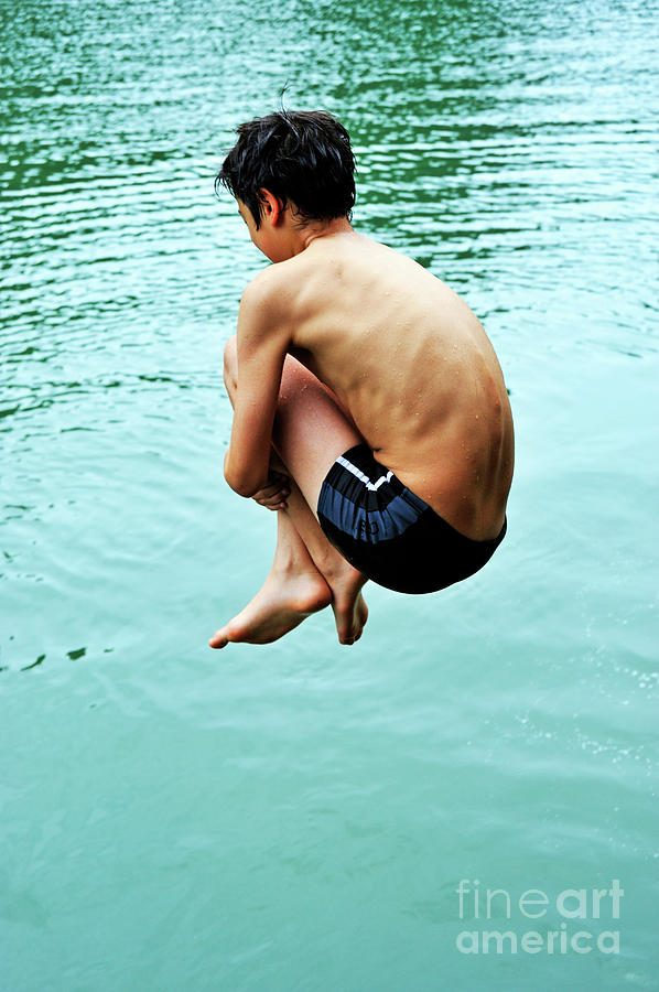 People Photograph - Diving Into Water by Sami Sarkis