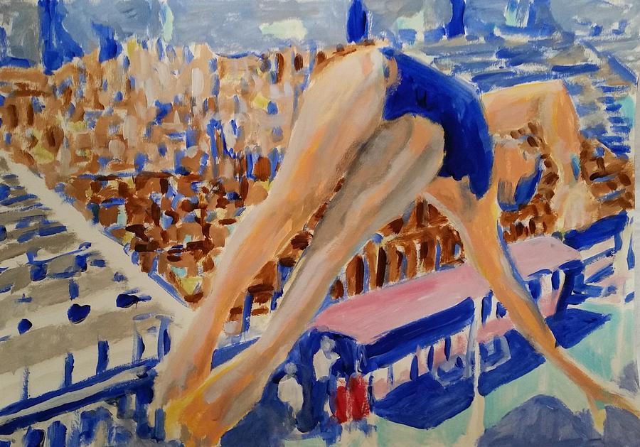 Platform Painting - Diving V by Bachmors Artist