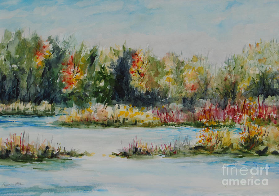 Water Color Painting - Division Pond by Frank Hoeffler