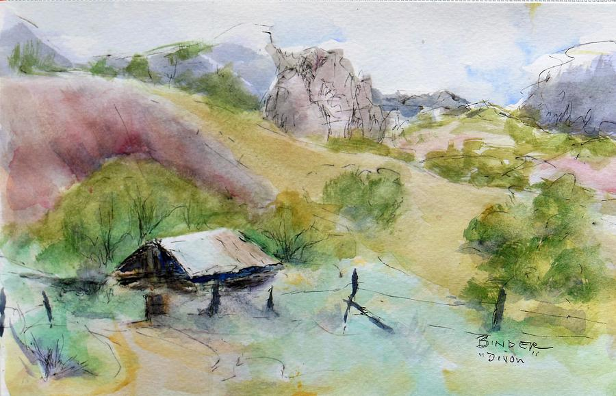 Dixon Painting - Dixon, New Mexico in the spring by Diane Binder