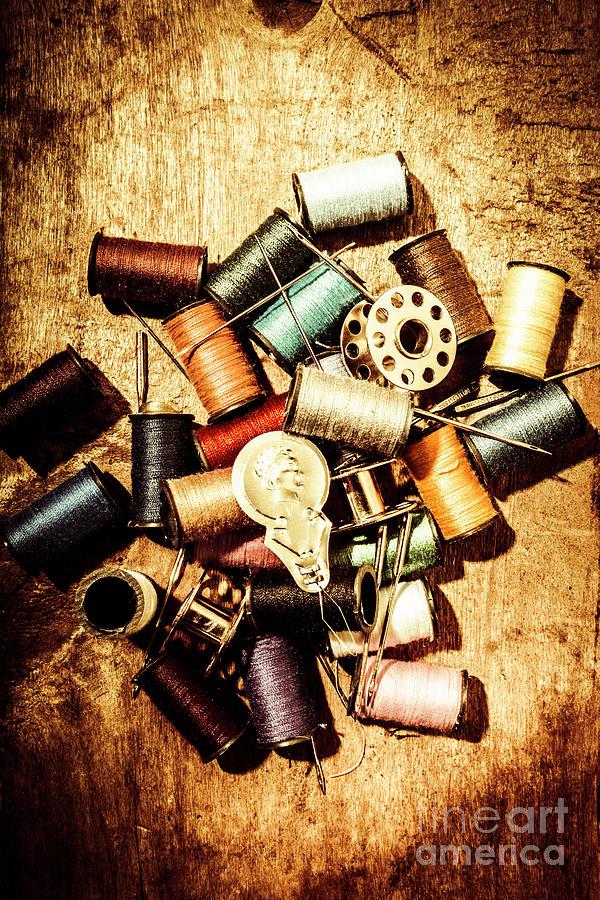 Dressmaker Photograph - Diy Vintage Fashion Design by Jorgo Photography - Wall Art Gallery