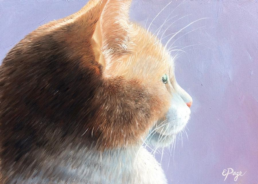 Cat Painting - Dizzy by Emily Page