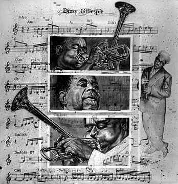 Dizzy Gillespie Painting - Dizzy Gillespie Bebop by Buena Johnson