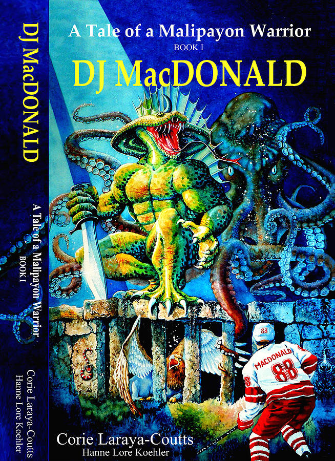 Illustrator Painting - Dj Macdonald Book Cover by Hanne Lore Koehler