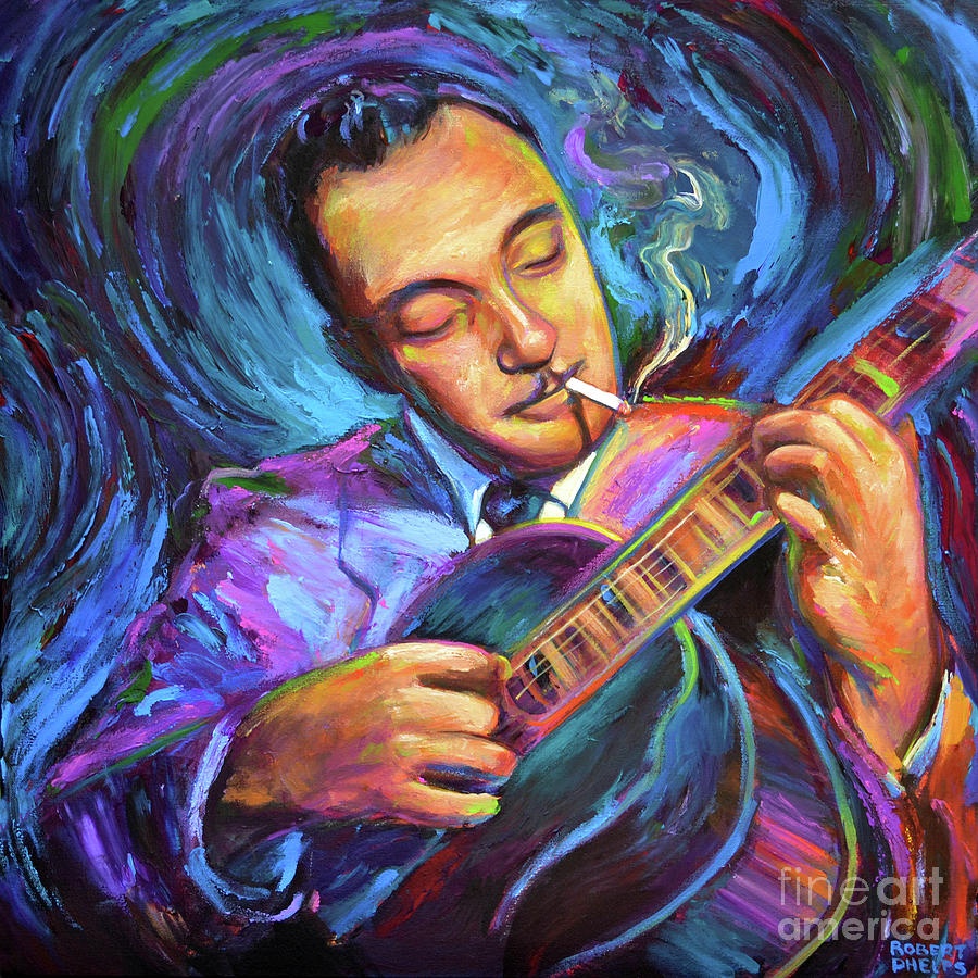 Django Painting - Django Reinhardt  by Robert Phelps