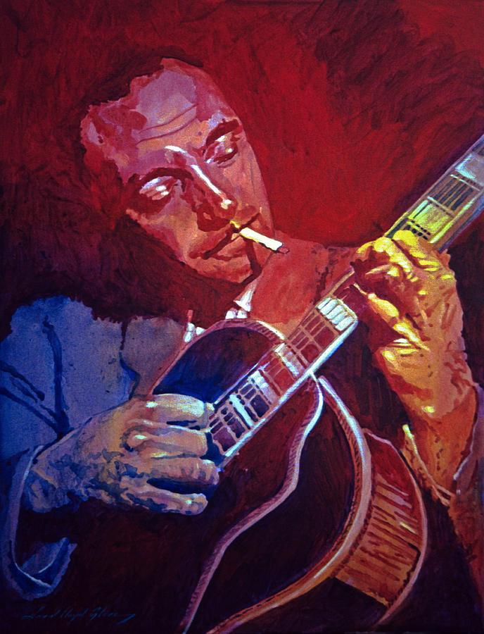 Django Painting - Django Sweet Lowdown by David Lloyd Glover