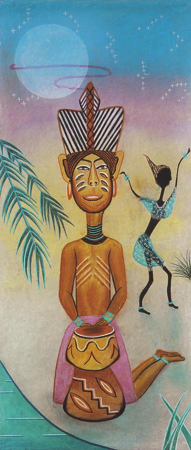 Africa Mixed Media - Djumbe by Sally Appleby