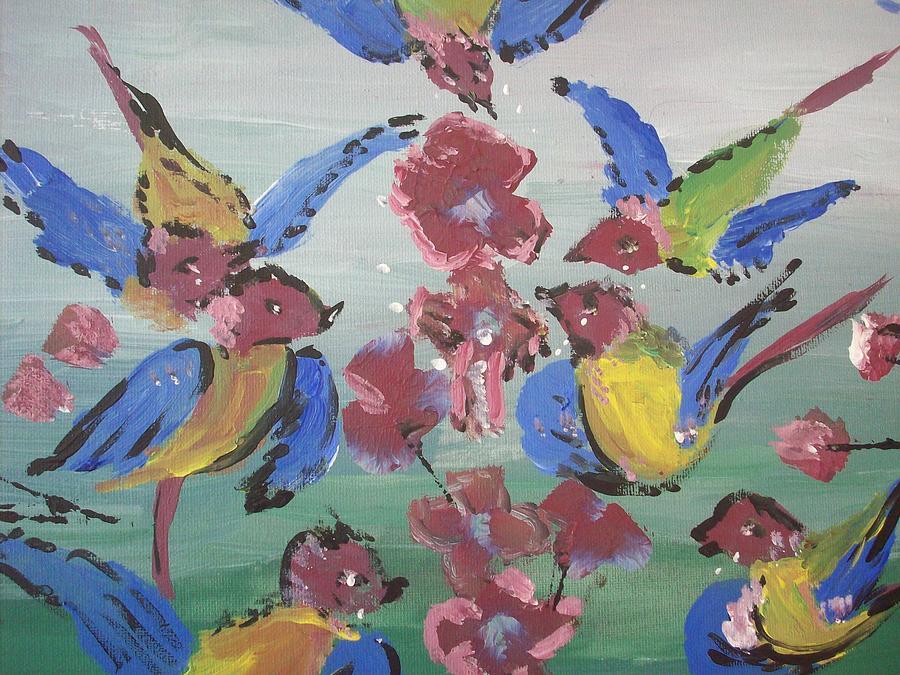 Bird Painting - Dlyg Birdsong by Judith Desrosiers