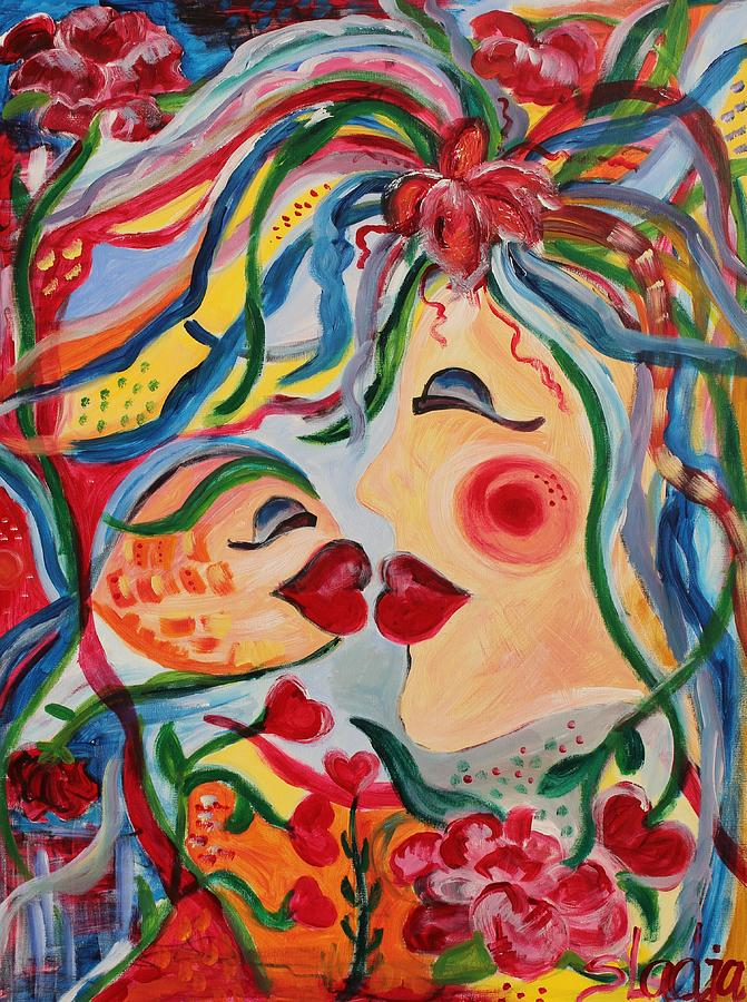 Women Painting - Do Not Take The Small Things For Granted by Sladjana Lazarevic