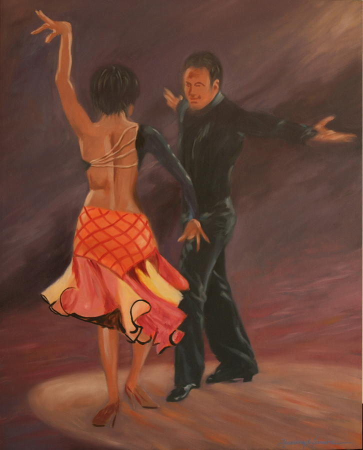 Painting Painting - Do The Cha Cha Cha by Rosencruz  Sumera
