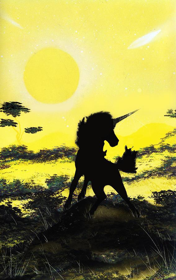 Unicorn Painting - Do You Believe by Jason Girard