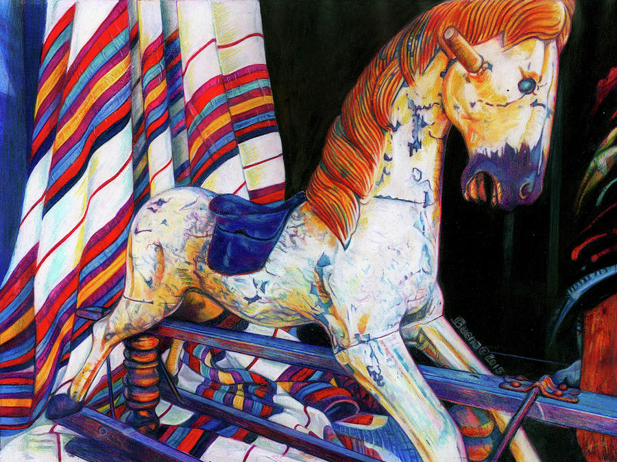 Rocking Horse Drawing - Do You Remember by Buena Johnson