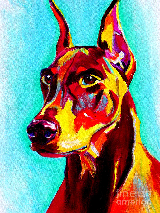 Dog Painting - Doberman - Prince by Alicia VanNoy Call