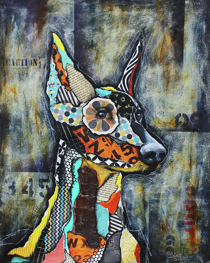 Doberman Pinscher by Patricia Lintner