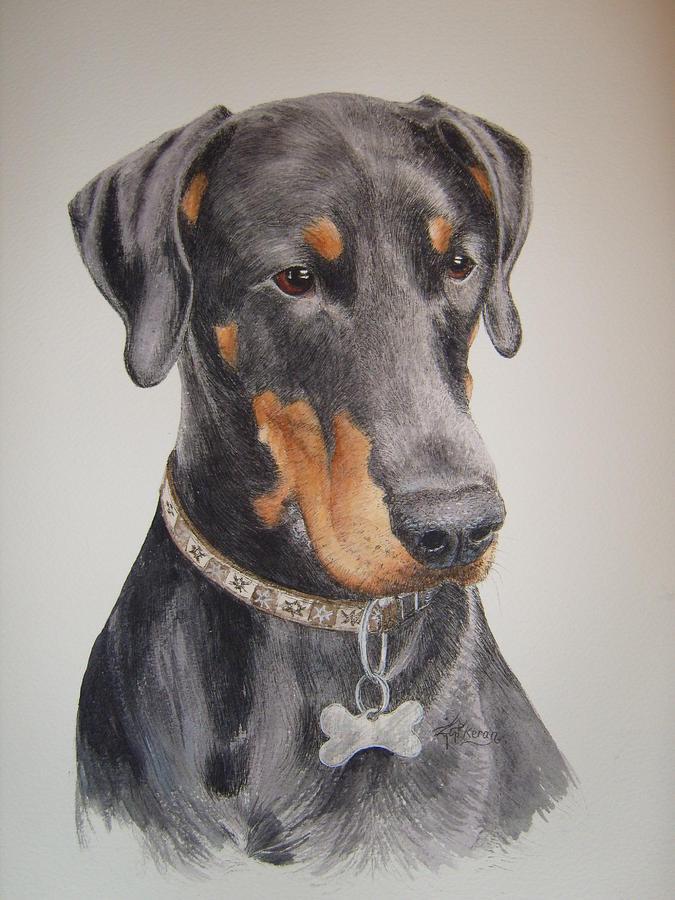 Dobermann Painting - Dobermann by Keran Sunaski Gilmore
