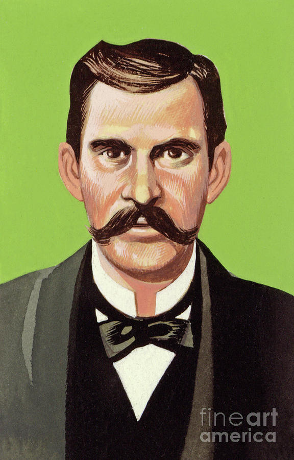 Doc Painting - Doc Holliday by Ron Embleton