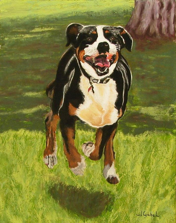 Dog Pastel - Doc by Laura Gabel