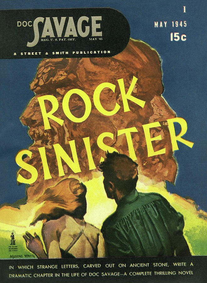 Doc Savage Rock Sinister Drawing by Conde Nast