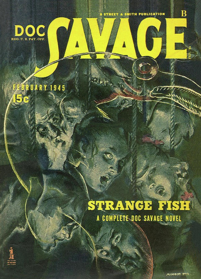 Doc Savage Strange Fish Drawing by Conde Nast