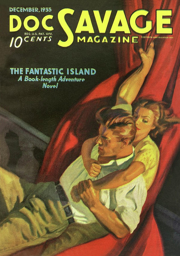 Doc Savage The Fantastic Island Drawing by Conde Nast