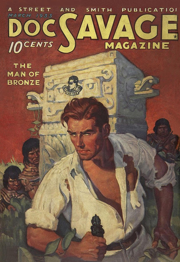 Doc Savage The Man of Bronze Drawing by Conde Nast