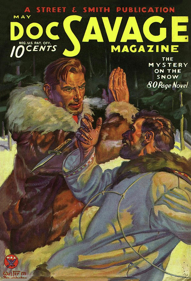 Doc Savage The Mystery On The Snow Drawing by Conde Nast