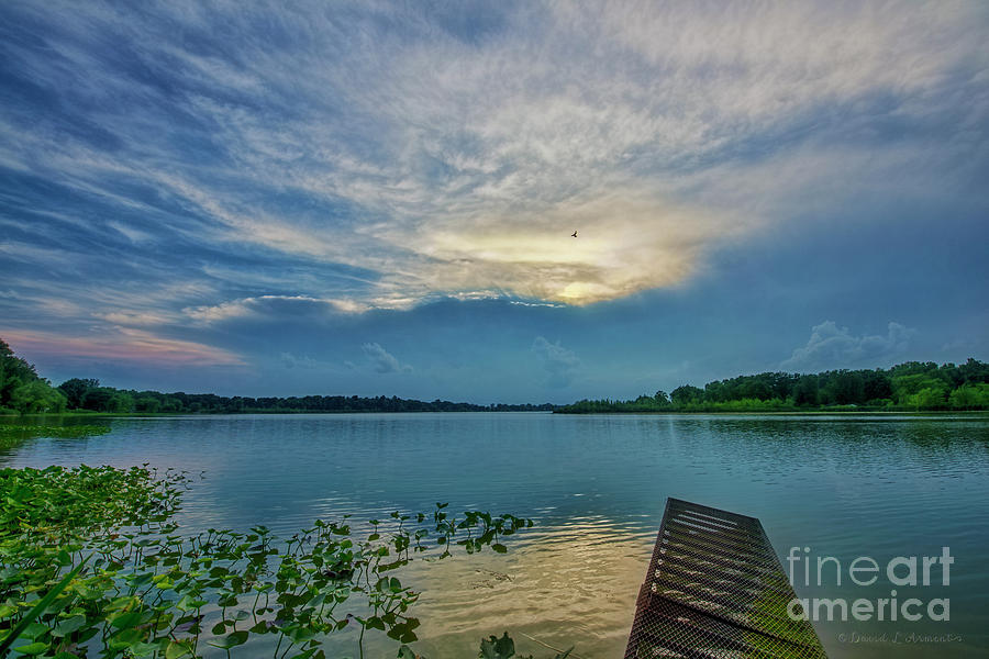 Clouds Photograph - Dock At Shipshewana Lake by David Arment