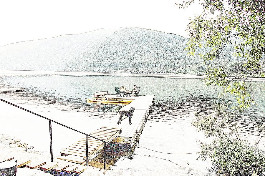 Impressionism Photograph - Dock Dog by Ivan Tamas