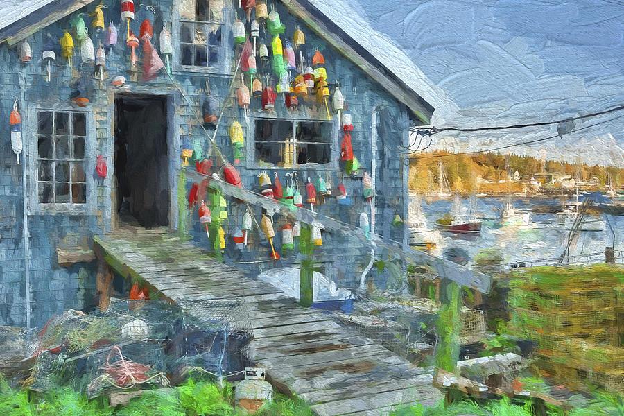 Maine Digital Art - Dock House In Maine II by Jon Glaser