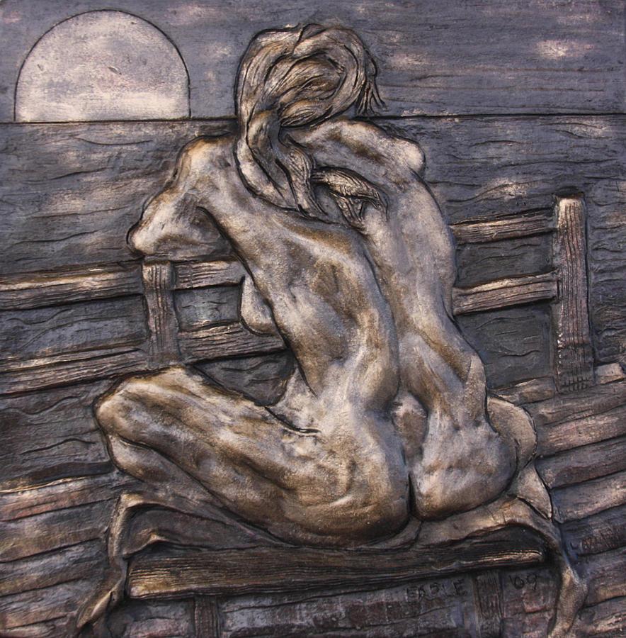 Female Nude Sculpture - Dock Of The Bay by Dan Earle