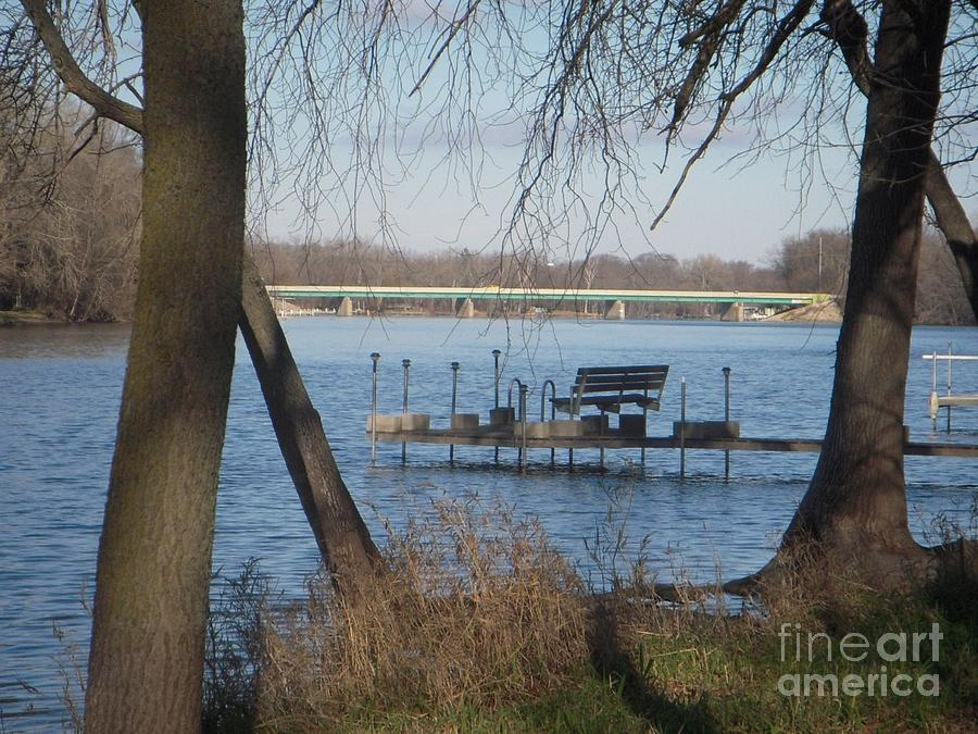 Dock Photograph - Dock on River by Deborah Finley