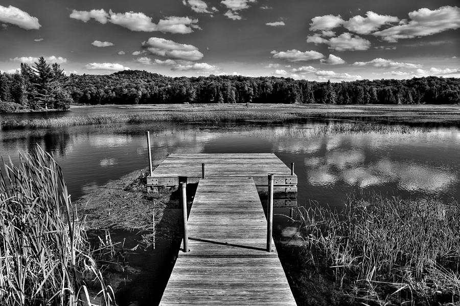 Adirondack Photograph - Dock On The Moose River by David Patterson